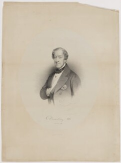 William George Spencer Cavendish, 6th Duke of Devonshire, by Charles Baugniet, printed by  M & N Hanhart - NPG D35160