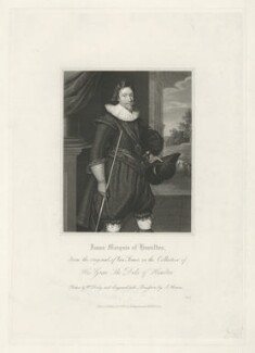 James Hamilton, 2nd Marquess of Hamilton, by James Thomson (Thompson), published by  Harding & Lepard, after  Paul van Somer - NPG D35255