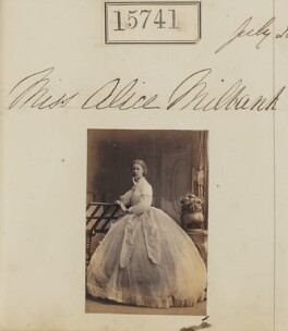 Alice Frederica (née Milbank), Lady Dale, by Camille Silvy - NPG Ax63668