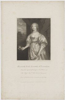 Elizabeth Cavendish (née Cecil), Countess of Devonshire, by John Samuel Agar, published by  Lackington, Allen & Co, and published by  Longman, Hurst, Rees, Orme & Brown, after  Robert William Satchwell, after  Sir Anthony van Dyck - NPG D35163