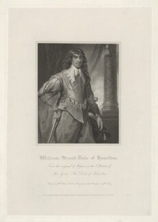 William Hamilton, 2nd Duke of Hamilton, by William Thomas Fry, published by  Lackington, Hughes, Harding, Mavor & Jones, published by  Longman, Hurst, Rees, Orme & Brown, after  William Hilton, after  Daniel Mytens - NPG D35257