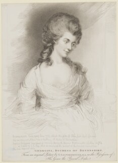Georgiana Cavendish (née Spencer), Duchess of Devonshire, by Henry Meyer, after  Thomas Gainsborough - NPG D35164