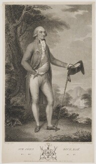 Sir John Dick, Bt, by and published by Peltro William Tomkins, after  Philip Jean - NPG D35172