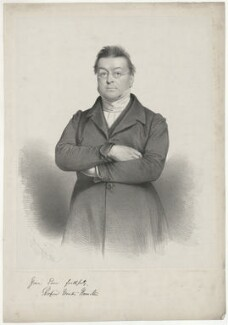 Richard Winter Hamilton, by Charles Baugniet, printed by  Day & Haghe, published by  Joseph Hogarth - NPG D35274
