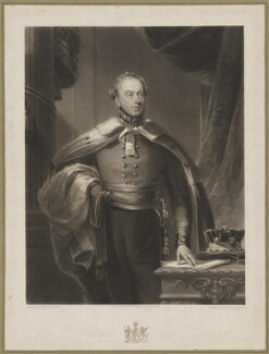William Lewis Hughes, 1st Baron Dinorben, by Thomas Goff Lupton, published by  Edward Parry, after  James Lonsdale - NPG D35191