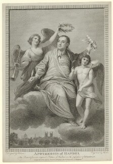 George Frideric Handel ('Apotheosis of Handel'), by James Heath, after  Biagio Rebecca - NPG D35301