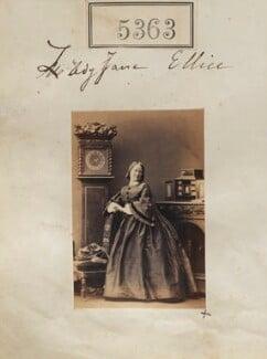 Lady Jane Harriet Ellice (née Pleydell-Bouverie), by Camille Silvy, 7 August 1861 - NPG Ax55323 - © National Portrait Gallery, London
