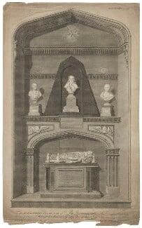 Harborough Monument, by James Basire, published by  John Nichols - NPG D35311