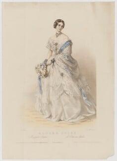Marie Charlotte Eugenie Doche (née Plunkett), by Richard James Lane, printed by  M & N Hanhart, published by  John Mitchell, after  Richard Buckner - NPG D35334