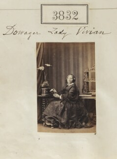 Letitia (née Webster), Lady Vivian, by Camille Silvy - NPG Ax53223