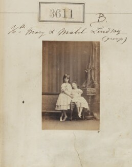 Lady Mary Susan Félicie Meynell (née Lindsay); Lady Mabel Marian Lindsay, by Camille Silvy - NPG Ax53007