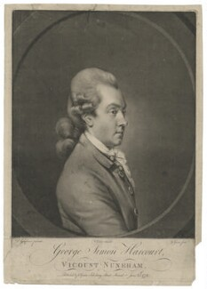 George Simon Harcourt, 2nd Earl Harcourt, by and published by Valentine Green, after  Daniel Gardner, published 25 June 1772 - NPG D35318 - © National Portrait Gallery, London