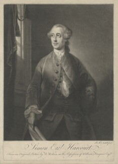 Simon Harcourt, 1st Earl Harcourt, by James Macardell, after  Benjamin Wilson - NPG D35321