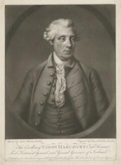 Simon Harcourt, 1st Earl Harcourt, by Edward Fisher, after  Robert Hunter - NPG D35323