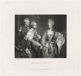 The Harcourt Family, by Charles Algernon Tomkins, published by  Henry Graves & Co, after  Sir Joshua Reynolds - NPG D35327