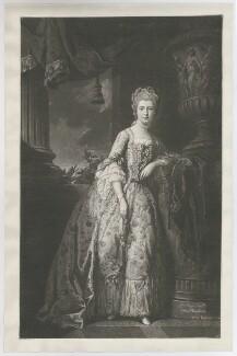 Elizabeth Harcourt (née Vernon), Countess Harcourt when Lady Nuneham, by William Wynne Ryland, after  Pierre-Étienne Falconet - NPG D35328