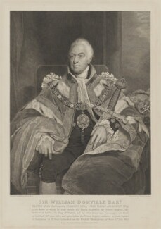 Sir William Domville, 1st Bt, by Philipp Audinet, after  William Owen - NPG D35345