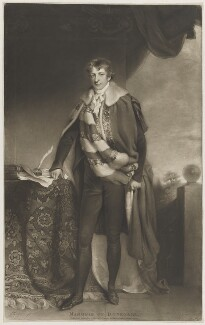 George Augustus Chichester, 2nd Marquess of Donegall, by and published by Charles Turner, after  John James Masquerier - NPG D35348