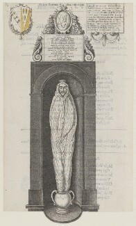 Monumental effigy of John Donne, by Wenceslaus Hollar, 1658 - NPG D35350 - © National Portrait Gallery, London