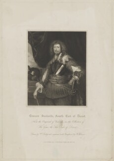 Edward Sackville, 4th Earl of Dorset, by John Henry Robinson, published by  William Derby, after  Sir Anthony van Dyck - NPG D35359