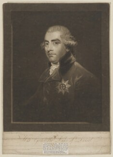 John Frederick Sackville, 3rd Duke of Dorset, by Samuel William Reynolds, published by  Peter Brown, after  Sir Joshua Reynolds - NPG D35364