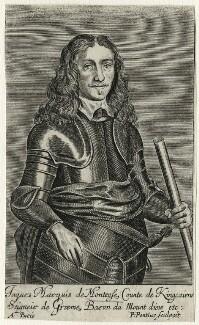 James Graham, 1st Marquess of Montrose, by Paulus Pontius (Paulus Du Pont), probably after  Gerrit van Honthorst - NPG D35469