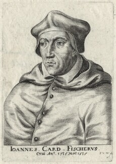 John Fisher, by Frans van den Wyngaerde (Wijngaerde), after  Unknown artist - NPG D35477