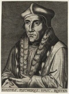John Fisher, by D.L., after  Hans Holbein the Younger, 17th century - NPG D35478 - © National Portrait Gallery, London