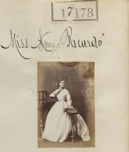Amy Mary (née Ricardo), Countess of March, by Camille Silvy - NPG Ax65051