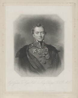 Henry Hardinge, 1st Viscount Hardinge of Lahore, by Francis Holl, published by  Henry Thomas Ryall, published by  James Fraser, published by  Sir Francis Graham Moon, 1st Bt, after  Eden Upton Eddis - NPG D35411