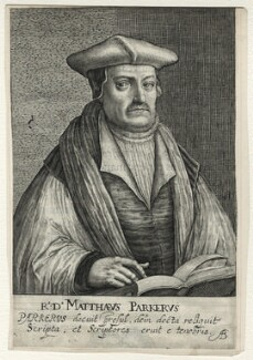 Matthew Parker, by Magdalena de Passe, and by  Willem de Passe - NPG D35490