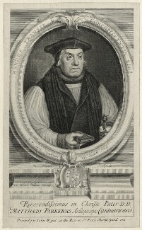 Matthew Parker, by George Vertue, published by  John Wyat - NPG D35499