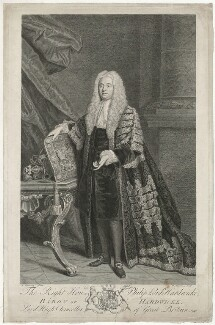 Philip Yorke, 1st Earl of Hardwicke, by Bernard Baron, after  Allan Ramsay - NPG D35416
