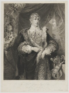 George Agar-Ellis, 1st Baron Dover, by John Burnet, after  George Sanders (Saunders) - NPG D35377