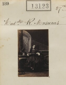 Ralouka ('Rachel') Bibesco-Bassaraba (née Musurus), Princess de Brancovan, by Camille Silvy - NPG Ax62764