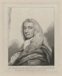 Sir Ralph Hare, 1st Bt, by William Camden Edwards, published by  Charles Muskett - NPG D35435