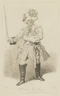 William Dowton, by Thomas Charles Wageman, published by  I. Clark, after  Samuel De Wilde - NPG D35381