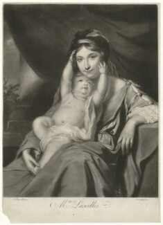Mrs Lascelles, by Richard Purcell (H. Fowler, Charles or Philip Corbutt), after  Sir Joshua Reynolds - NPG D35438