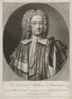 William Stanhope, 1st Earl of Harrington, by John Simon, after  John Fayram - NPG D35455