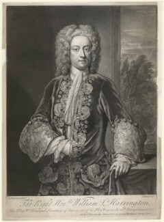 William Stanhope, 1st Earl of Harrington, by John Faber Jr, after  John Fayram - NPG D35456