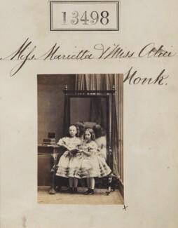 Marietta Monk; Alice Monk, by Camille Silvy - NPG Ax63131
