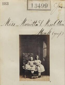 Marietta Monk; Alice Monk, by Camille Silvy - NPG Ax63132