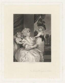 Jane Countess of Harrington and Children, by Arthur N. Sanders, after  Sir Joshua Reynolds - NPG D35458