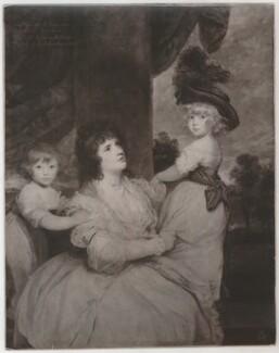 Jane Countess of Harrington and Children, after Sir Joshua Reynolds - NPG D35459