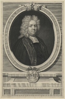 John Harris, by George Vertue, after  Anthony Russel - NPG D35521