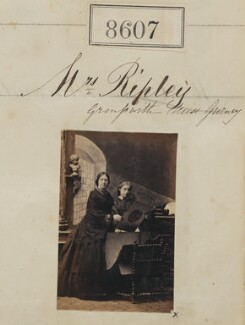 Mrs Ripley; Miss Gurney, by Camille Silvy - NPG Ax58430