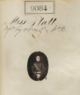 'Reproduction by order of Miss Platt' (Unknown man), by Camille Silvy, after  Unknown photographer - NPG Ax58906