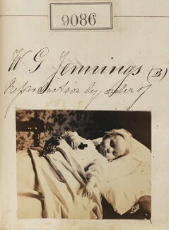 'Reproduction by order of W.G. Jennings' (post-mortem portrait of baby), by Camille Silvy - NPG Ax58908