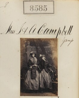 Miss I. Campbell; Miss A. Campbell, by Camille Silvy - NPG Ax58408