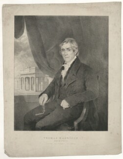 Thomas Harrison, by Maxim Gauci, printed by  Charles Joseph Hullmandel, after  Henry Wyatt - NPG D35536